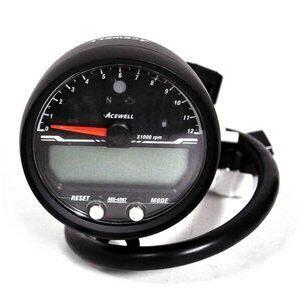 Electronic multifunction gauge AceWell Sport 4567 12K black