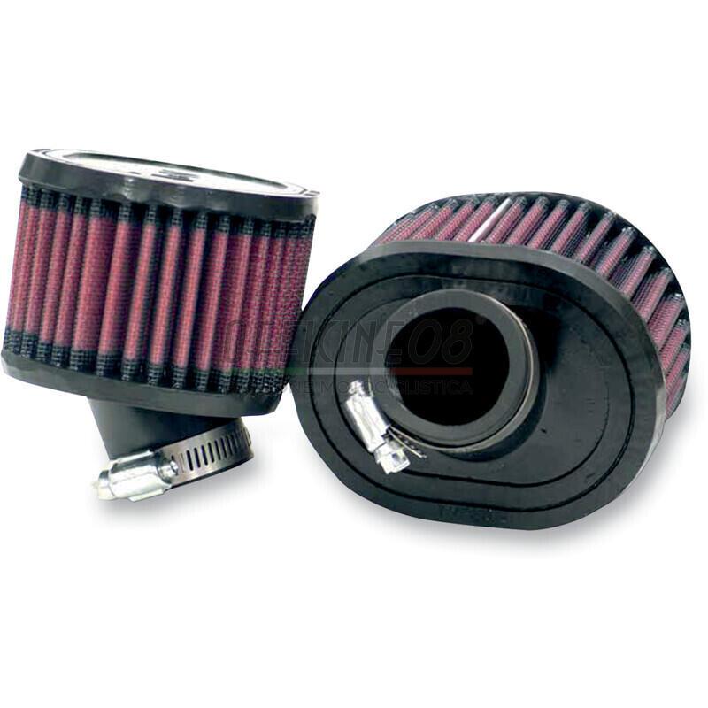 Filto a trombetta 38x70mm cilindrico ovale inclinato 30° K&N coppia