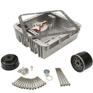 Coppa olio motore per Moto Guzzi Serie Grossa maggiorata filtro inferiore completo grigio