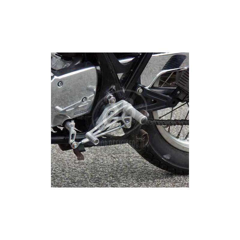 LSL rearset kit Yamaha SR 500 grey