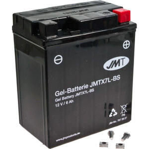 Batteria di accensione JMT YTX7L-BS gel 12V-6Ah