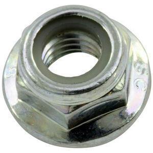 Brake disc contour fixing flanged nut