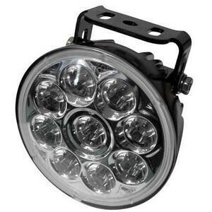Additionial led headlight Highsider ABS high beam riflector chrome