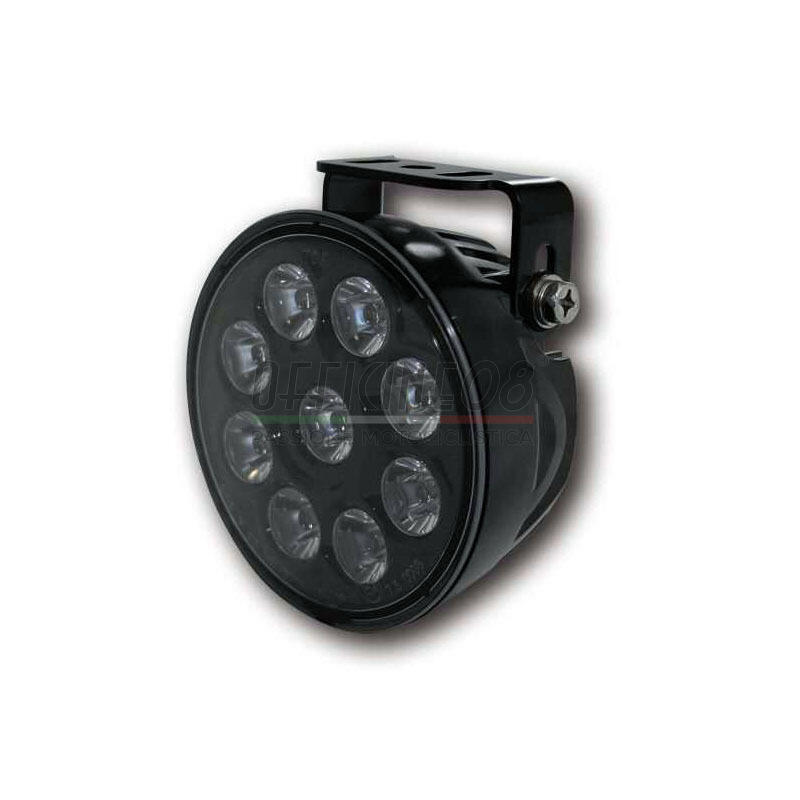 Additionial led headlight Highsider ABS high beam riflector black