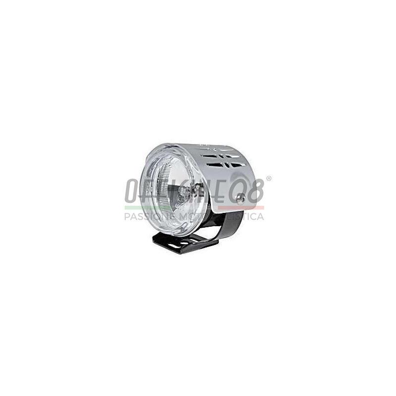 Additionial halogen foglight Round mini complete cover chrome