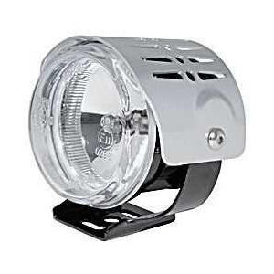 Additionial halogen foglight Round mini complete cover chrome