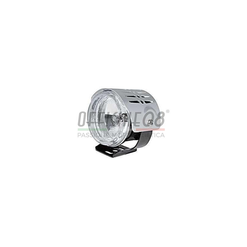 Additionial halogen headlight Round mini high beam cover chrome