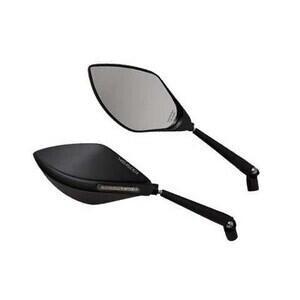 Coppia specchietti retrovisori Highsider Super Sport con frecce nero