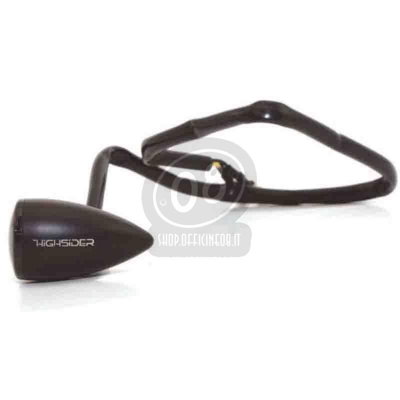 Led winkers Highsider Apollo Bullet black smoked pair - Pictures 2
