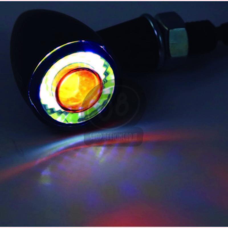 Coppia frecce led Highsider Bullet mini luce posizione fumè - Foto 9
