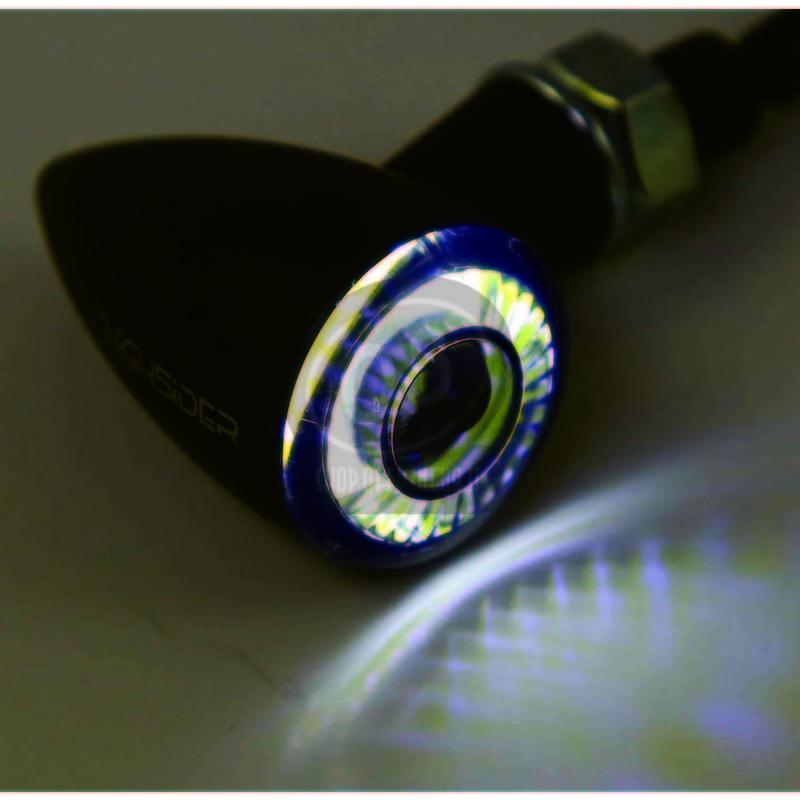 Coppia frecce led Highsider Bullet mini luce posizione fumè - Foto 8