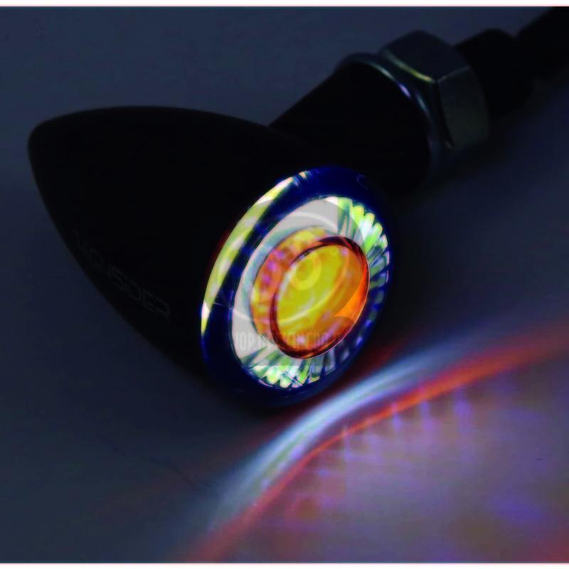 Coppia frecce led Highsider Bullet mini luce posizione fumè - Foto 7