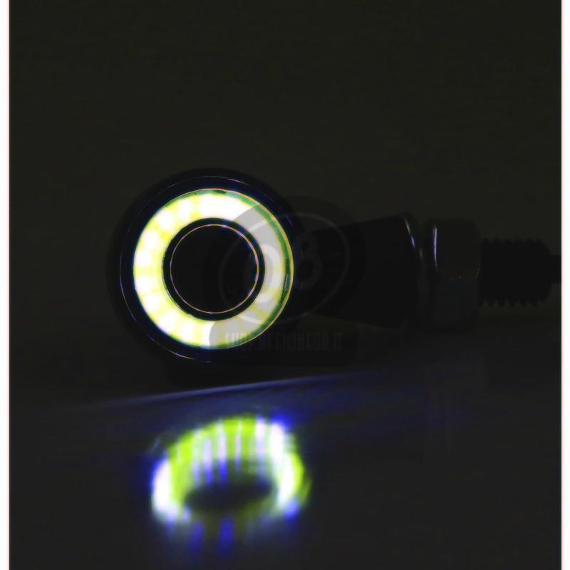 Coppia frecce led Highsider Bullet mini luce posizione fumè - Foto 6