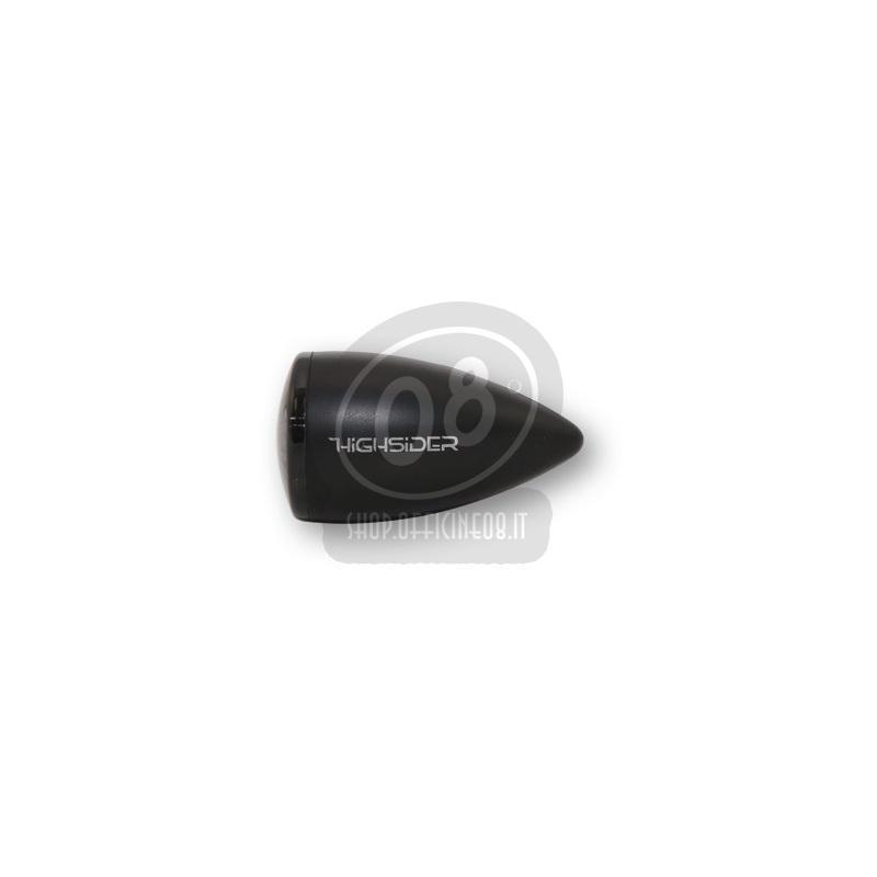 Coppia frecce led Highsider Bullet mini luce posizione fumè - Foto 2