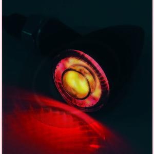 Coppia frecce led Highsider Apollo Bullet nero con fanalino posteriore fumè - Foto 12