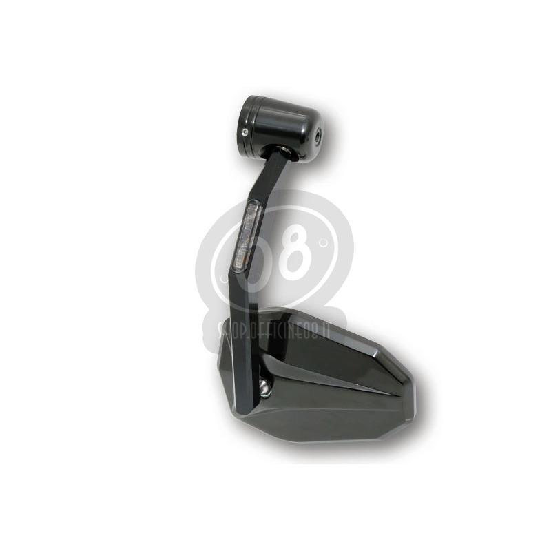 Specchietto retrovisore bar-end Highsider Victory con freccia nero - Foto 4