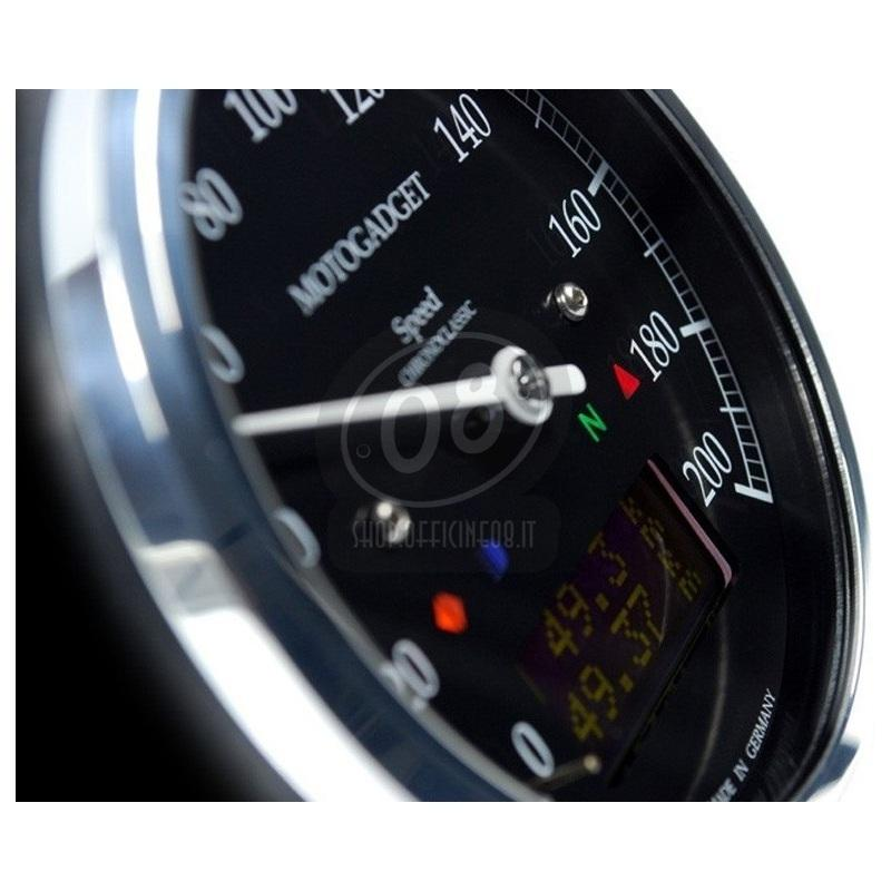 Electronic multifunction gauge Motogadget ChronoClassic Speedo 200Km/h - Pictures 2