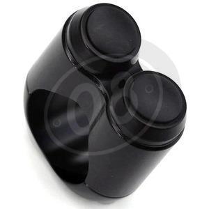 Pulsantiera 22mm 2 Push Button nero nero nero