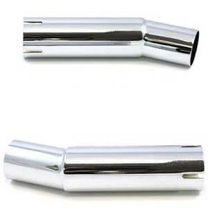 Coppia tubi di scarico 38/40mm curvi 21°