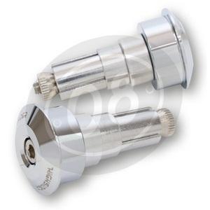 Coppia contrappesi portaspecchietti Highsider DOT.1 cromo - Foto 3