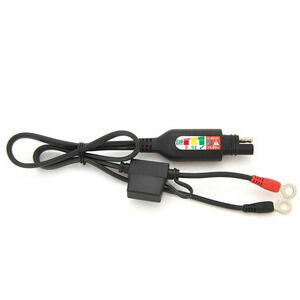 Battery charger connection cables with indicator