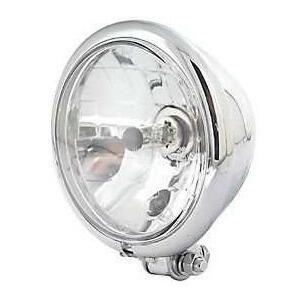 Halogen headlight 5.3/4'' Bates chrome lens clear