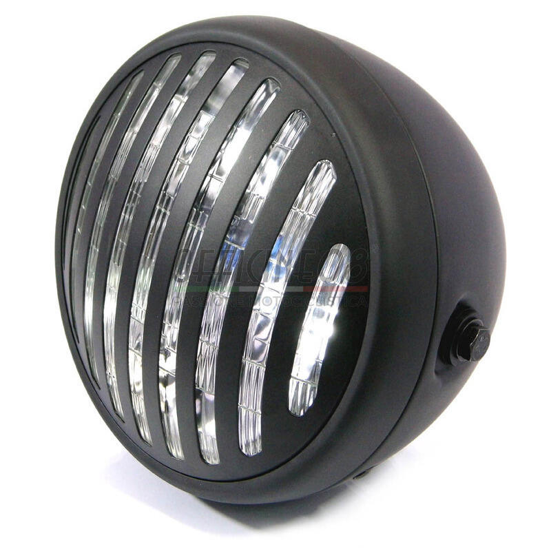 Halogen headlight 6.5'' Modern black