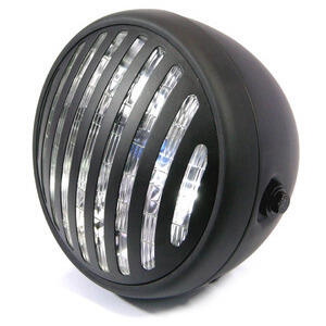 Halogen headlight 6'' Modern black