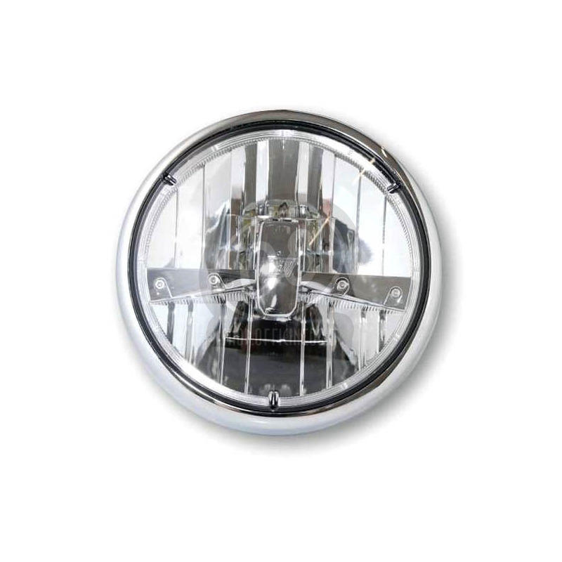 Full led headlight 7'' Highsider Reno Type 3 chrome - Pictures 2
