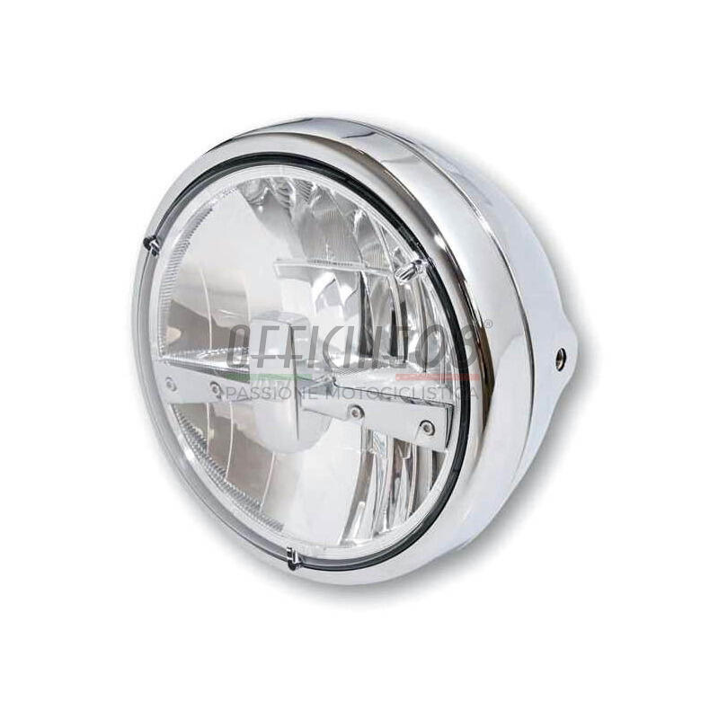 Faro anteriore 7'' Highsider Reno Type3 full led cromo