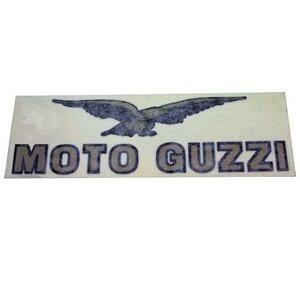 Adesivo Moto Guzzi 161x48mm oro/nero