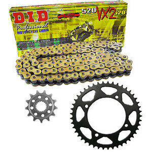 Chain and sprockets kit Triumph Bonneville 800 DID Premium