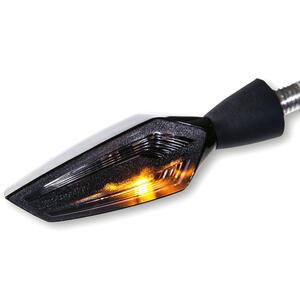 Freccia led Motogadget M-Blaze Edge sinistra con fanalino posteriore fumè