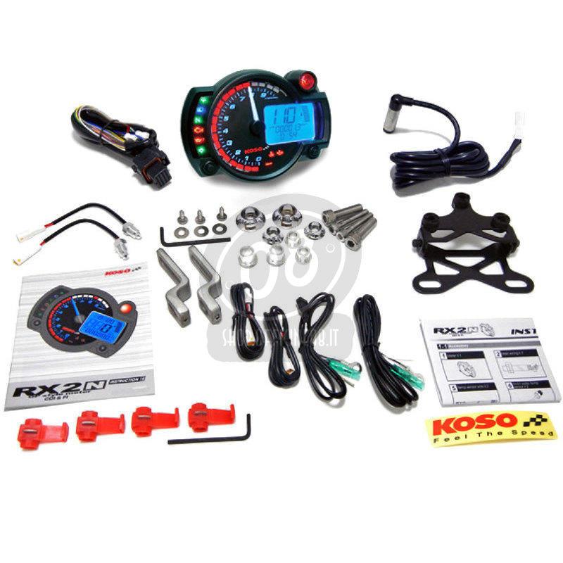 Electronic multifunction gauge Koso RX-2N 10K dial black - Pictures 3
