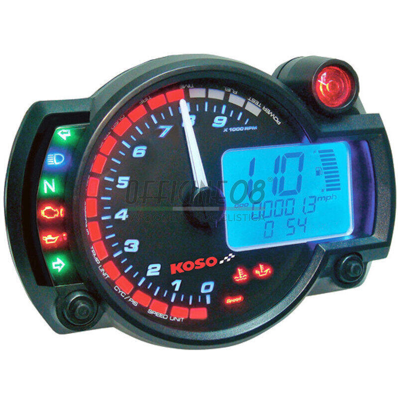 Electronic multifunction gauge Koso RX-2N 10K dial black