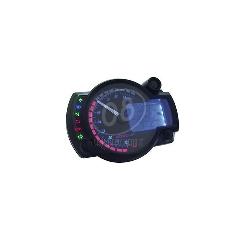Electronic multifunction gauge Koso RX-2N 10K dial black - Pictures 2
