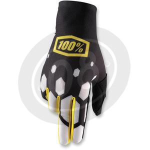Gloves 100% Celium black/white