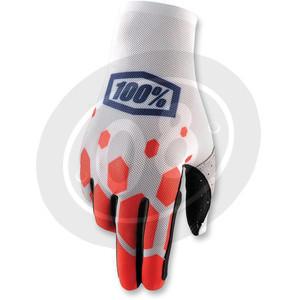 Gloves 100% Celium white/red