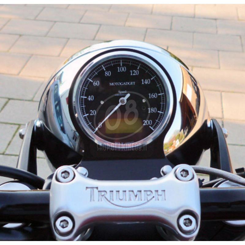Electronic multifunction gauge Motogadget ChronoClassic Speedo 200Km/h - Pictures 3
