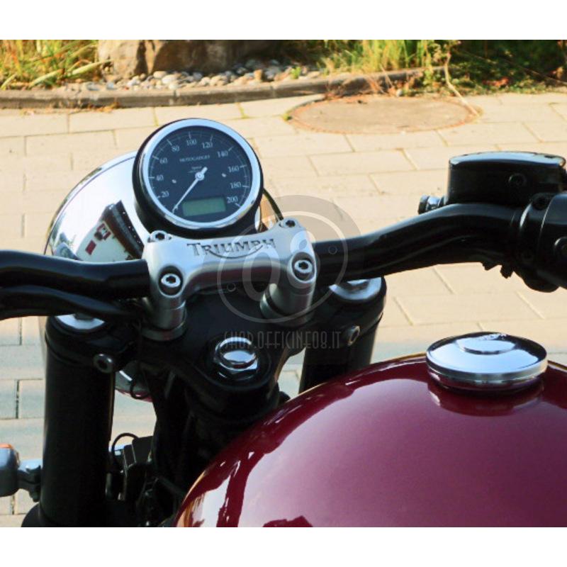 Electronic multifunction gauge Motogadget ChronoClassic Speedo 200Km/h - Pictures 2