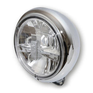 Full led headlight 7'' Harley-Davidson Highsider Type3 low mounting chrome
