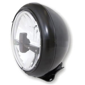 Full led headlight 7'' Harley-Davidson Highsider Type3 low mounting black matt