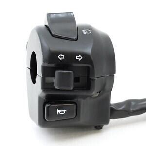 Blocchetto elettrico sinistro K&S Modern con spia nero