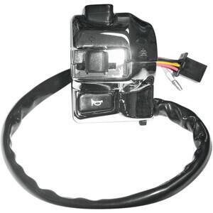 Blocchetto elettrico sinistro K&S Modern con spia cromo