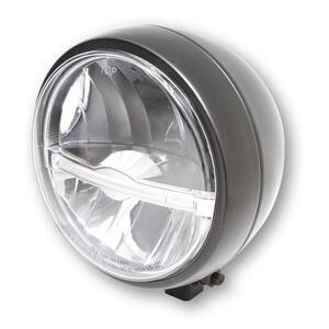 Full led headlight 5.3/4'' Highsider Jackson low mounting black matt