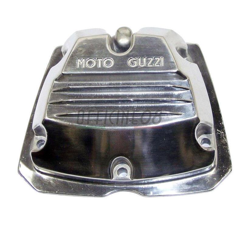 Coperchio distribuzione per Moto Guzzi Serie Piccola 2V lucido scritta grigia