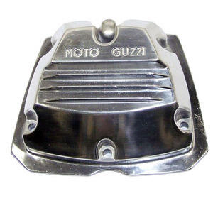 Cylinder head cover Moto Guzzi Serie Piccola 2V polish writing grey
