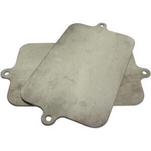 Coppia tabelle portanumero rettangolari alluminio