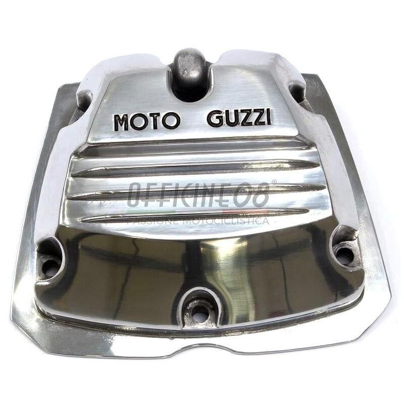 Coperchio distribuzione per Moto Guzzi Serie Piccola 2V lucido scritta nera