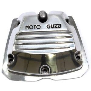 Cylinder head cover Moto Guzzi Serie Piccola 2V polish writing black